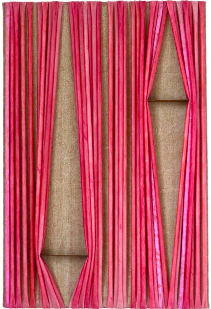 nina k. doege »pink plink«, 2016, 96 x 60 cm